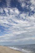 stock photo of martha  - Beach with blue sky and clouds on Martha - JPG