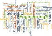 image of genetic engineering  - Background concept wordcloud illustration of genetic engineering - JPG