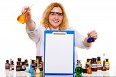 image of scientific research  - Experiment research in progress - JPG