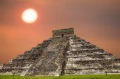 stock photo of mayan  - Ancient Mayan pyramid - JPG