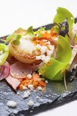 foto of scallops  - Chicken salad with scallop and seasonal fruit - JPG