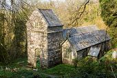 pic of church-of-england  - Ancient norman parish church in woodland in Minster Boscastle Cornwall England UK - JPG