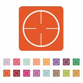 stock photo of crosshair  - The crosshair icon - JPG