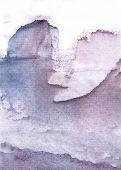 foto of iceberg  - North winterday rocks and icebergs in sea water - JPG