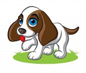 image of puppy eyes  - Illustration of cute little puppy with big blue eyes - JPG