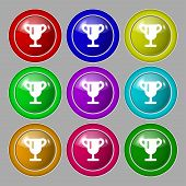 image of winner  - Winner cup Awarding of winners Trophy icon sign - JPG