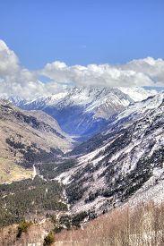 image of ravines  - Great Caucasus Range - JPG