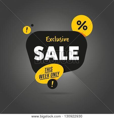 sale vector banner promo offer sale sticker discount sticker