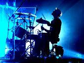 Drummer Jamming poster