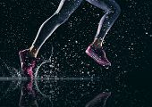 athletes foot close-up. healthy lifestyle and sport concepts.  poster
