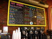 Coffee House Chalkboard