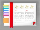 Web Site Design Template, Vector