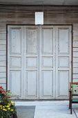 image of kan  - Wooden Folding Doors in Chiang Kan - JPG