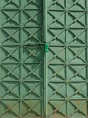 Part of metallic door