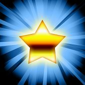 Gold Star Blue Rays