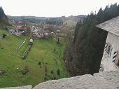 Predjama Castle View Of Valley