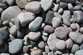 Background Smooth Rocks At Beach