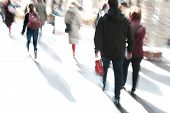 People Walking In A Modern Interior, Motion Blur