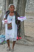 Mayan peddler woman