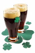 stock photo of guinness  - dark irish beer for st patick - JPG