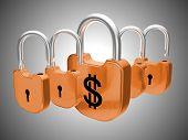 Padlocks: Us Dollar Currency Safety