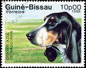Grande Azul Hund Briefmarke.