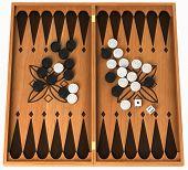 Leisure Activity: Wooden Backgammon Isolated