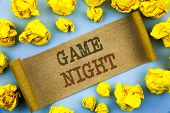 Word, Writing, Text  Game Night. Business Concept For Entertainment Fun Play Time Event For Gaming W poster