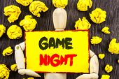 Announcement Text Showing Game Night. Concept Meaning Entertainment Fun Play Time Event For Gaming W poster