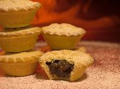 Mince Pies With A Dusting Of Icing Sugar