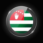 Abkhazia National Flag. Application Language Symbol. Country Of Manufacture Icon. Round Glossy Isola poster