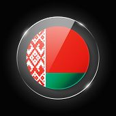 Belarus National Flag. Application Language Symbol. Country Of Manufacture Icon. Round Glossy Isolat poster
