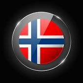 Norway National Flag. Application Language Symbol. Country Of Manufacture Icon. Round Glossy Isolate poster