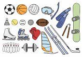 Sport Items Vector Set
