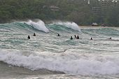 Surfers In The Line-Up