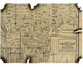 Burnt Map Of Chicago 1930