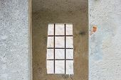 The Sentinel Room With The Window With Security Grating Of An Ancient Castle / Detail Of A The Senti poster