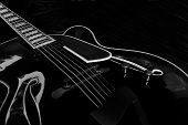 Black Archtop Guitar - 01
