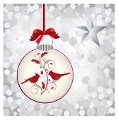 pretty bauble with birds esp10