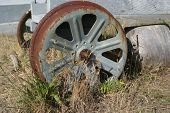Old Trailer Wheel poster