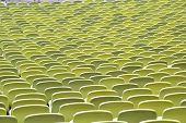 stock photo of grandstand  - Detail of a grandstand of  Olympiastadium in Munchen - JPG