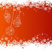 Vector christmas background with contour balls