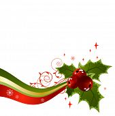 Holly christmas design element