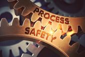 Process Safety - Illustration With Glow Effect And Lens Flare. Process Safety On The Mechanism Of Go poster