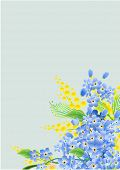Floral background with forget-me-nots. Raster version. Vector version is in my gallery.
