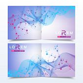 Scientific Templates Square Brochure, Magazine, Leaflet , Flyer, Cover, Booklet, Annual Report. Scie poster