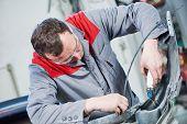 repair of damaged car automobile plastic bumper poster