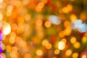 Blur - Bokeh Decorative Outdoor String Lights Hanging On Tree In The Garden At Night Time - Decorati poster