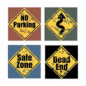 Grunge Road Traffic Signs