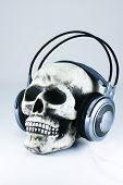 Skull With Headphones 2